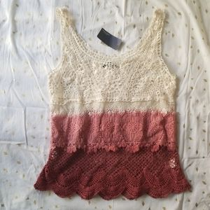 NWT American Eagle ombre crochet tank top